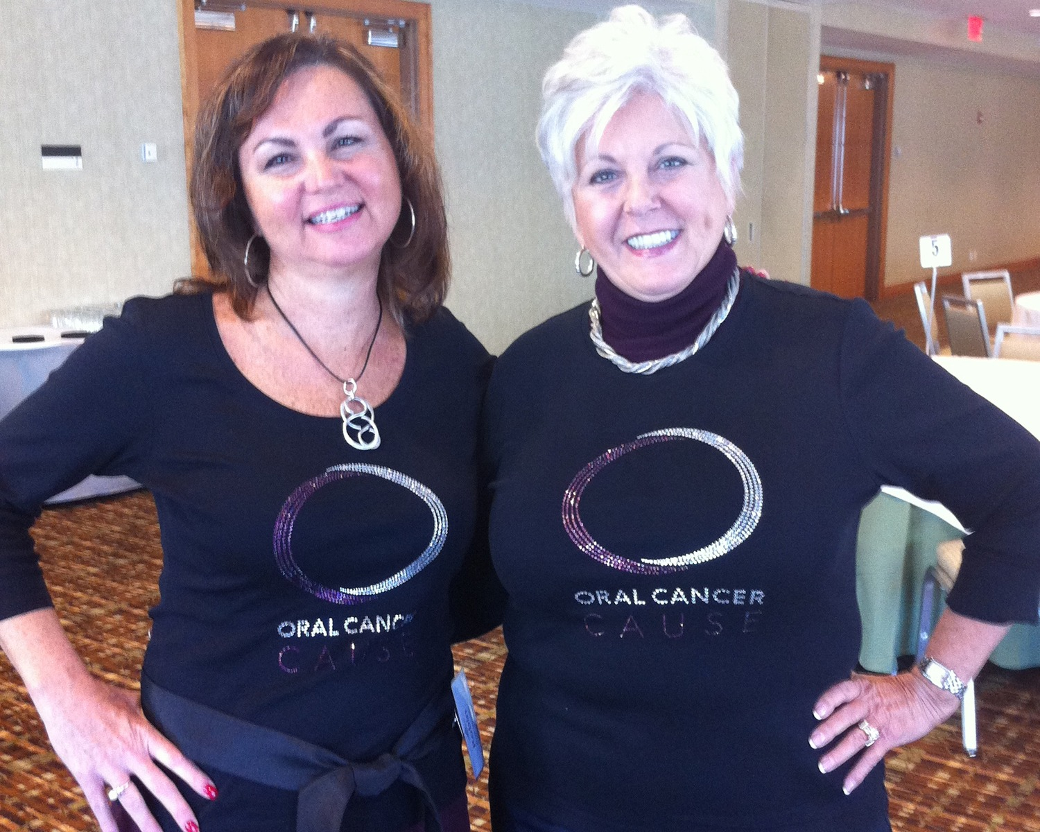 Linda Miles and Robin Morrison representing Oral Cancer Cause